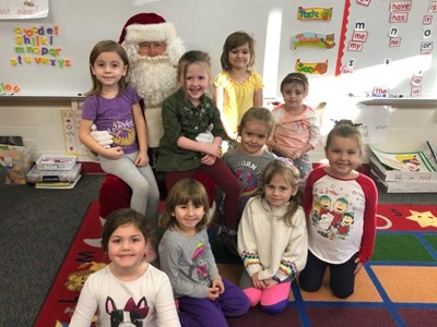 Santa visited Mrs. Doctor's class